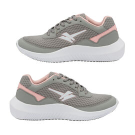 Gola Wexford Lace Up Ladies Trainer in Grey and Blossom Colour