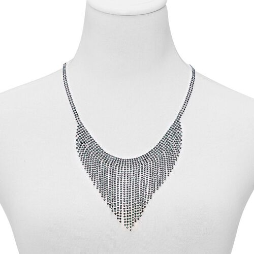 AAA Green Austrian Crystal Necklace (Size 22 with Extender) and Bracelet (Size 7.50) in Silver Tone