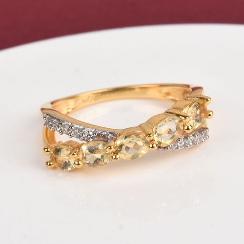 Marialite and Natural Cambodian Zircon Ring in 14K Gold Overlay Sterling Silver 1.00 Ct.