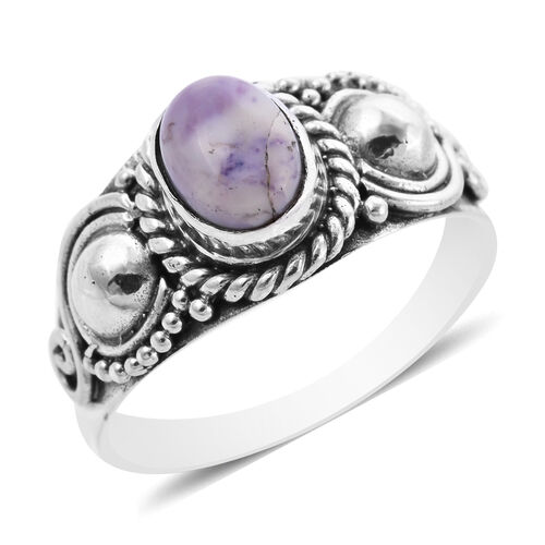 Royal Bali Collection - Tiffany Opal Ring in Sterling Silver 1.08 Ct.