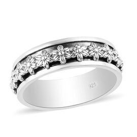 Sterling Silver Stackable Floral Ring