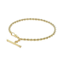 Italian Made - 9K Yellow Gold Rope Bracelet (Size 7.5)