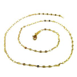 Vicenza Collection- 14K Gold Overlay Sterling Silver Moka Chain (Size 24)