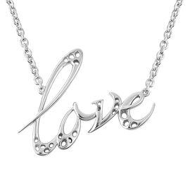 RACHEL GALLEY Lattice Love Necklace in Rhodium Plated Sterling Silver 20 Inch