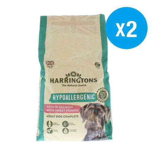 Harringtons: Hypoallergenic Salmon & Sweet Potato - 2 KG (Pack of 2 - 4kg)