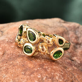 RACHEL GALLEY Misto Collection - Russian Diopside Ring in Yellow Gold Overlay Sterling Silver 2.00 Ct.