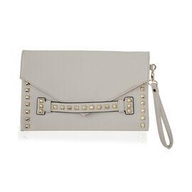 Thomas Calvi - Envelope Style Clutch Bag - Cream Colour