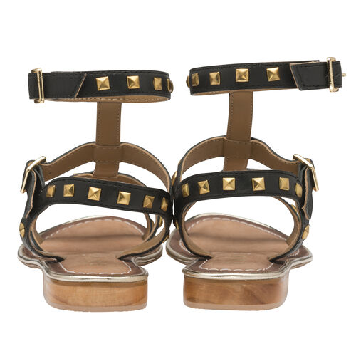 Ravel Parkes Gladiator Sandals with Stud Detailing and Double Strap Ankle Fastening (Size 5)