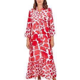 Giraffe Print Maxi Smock Dress
