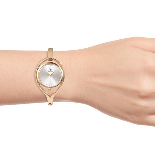 Designer Inspired Gold Plated Crystal Bangle Watch