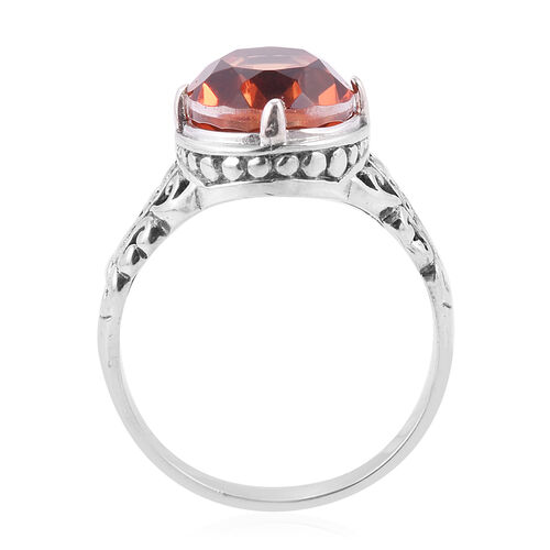 Royal Bali Collection- Imperial Triplet Quartz (Ovl) Ring in Sterling Silver 6.490 Ct.