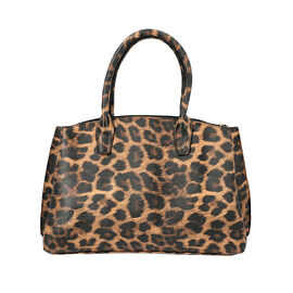 Close Out Collection Leopard Print Tote Handbag (Size - 35x12x25cm) - Brown