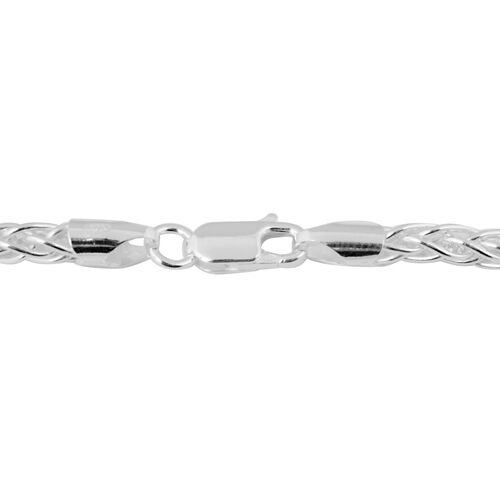 Made in Italy - Sterling Silver Spiga Chain (Size 22), Silver wt 24.44 Gms