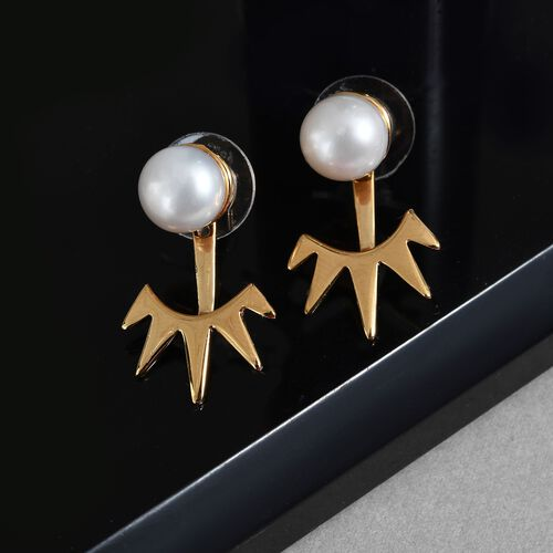 Sundays Child - Freshwater Pearl Detachable Earrings (with Push Back) in Vermeil Yellow Gold Sterling Silver