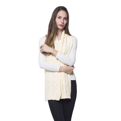 New for Season Designer Inspired Cream Colour Scarf (Size 170x25 Cm)