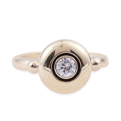 14K Yellow Gold (I1/G-H) Diamond (Rnd) Ring 0.250 Ct.