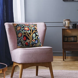 Signare Tapestry Art Cushion Cover inspired by William Morris Tree of Life (Size 45x45cm) - Orange