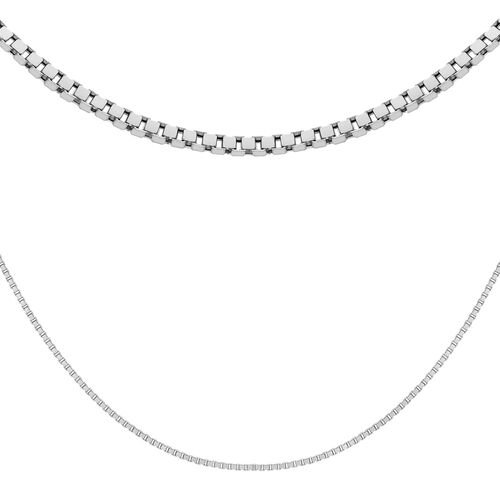 Sterling Silver Box Chain (Size 18)