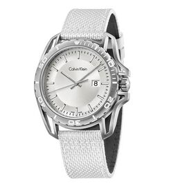 CALVIN KLEIN Made in Switzerland Water Resistance Silver Dial (Size 44mm) Quartz Mens Watch