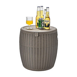 Weatherproof Ice Bucket in Taupe (Size: 43x39x34 cm)