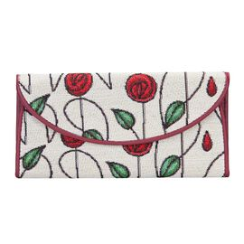 SIGNARE  - Tapestry Collection - Mackintosh Rose  Envelope Purse ( 20 x 10 x 3 Cms )