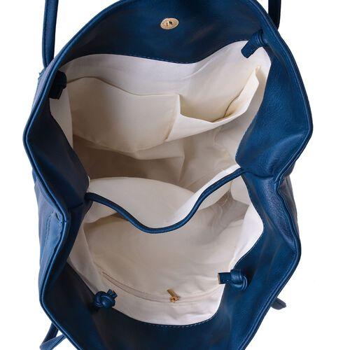 Designer Inspired Estella Royal Blue Colour Large Tote Bag (Size 30x30x16 Cm)