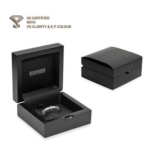 RHAPSODY 950 Platinum IGI Certified Diamond (VS/E-F) Solitaire Ring 0.10 Ct.