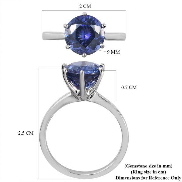 RHAPSODY 950 Platinum AAAA Tanzanite Solitaire Ring 3.09 Ct.
