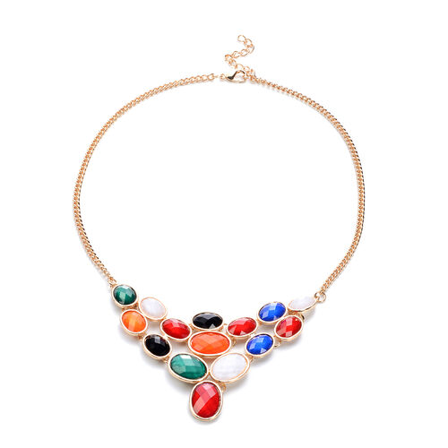 Multi Gemstone Necklace (Size 23 with Extender)