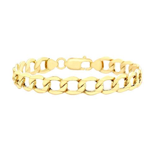 9K Yellow Gold Curb Bracelet (Size 8.5), Gold Wt. 8.21 Gms