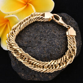 Royal Bali Collection - 9K Yellow Gold Curb Bracelet (Size 8.5), Gold wt 17.76 Gms.