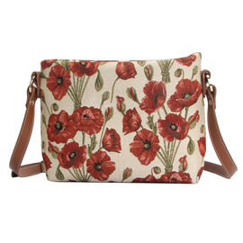 SIGNARE - Tapastry Collection - Poppy Cross Body Bag ( 28 x 18 x 8 Cms)