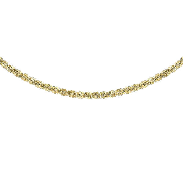 Criss Cross Necklace in 9K Yellow Gold 3.10 Grams 18 Inch