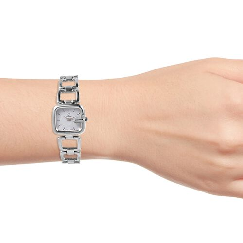 STRADA Japanese Movement Water Resistant Bracelet Watch in Silver Plated