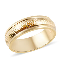 14K Gold Overlay Sterling Silver Band Ring