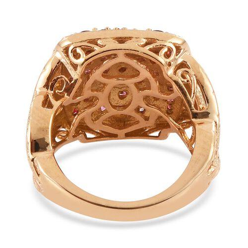Mahenge Spinel (Rnd) Cluster Ring in 14K Gold Overlay Sterling Silver 2.250 Ct.