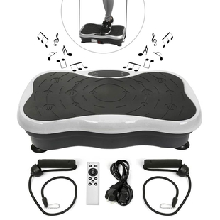 Mini Whole Body Vibration Platform With Resistance Band and Remote Control (Size:51.5x31x12.5Cm) - B