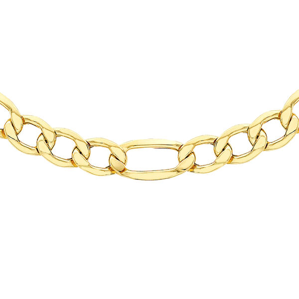 One Time Close Out Deal- 9K Yellow Gold Figaro Necklace (Size 20) with Lobster Clasp, Gold Wt. 5.40