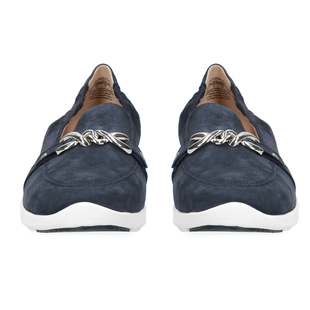 CAPRICE Suede Leather Buckle Detailing Loafers (Size 4)- Blue