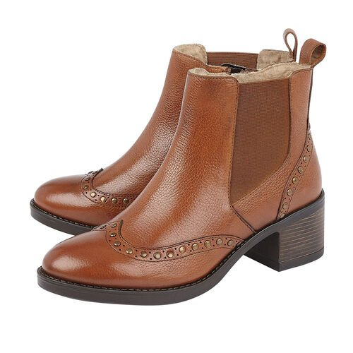 Lotus Tan Leather Lucinda Ankle Boots (Size 4)