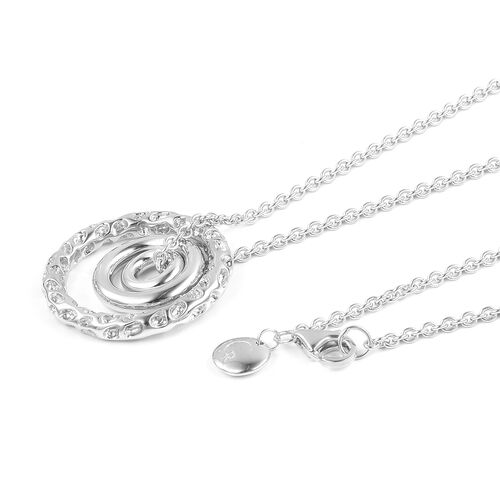 RACHEL GALLEY Rhodium Plated Sterling Silver Allegro Pendant with Chain, Silver wt 10.47 Gms.