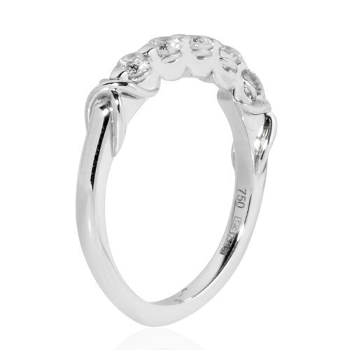 ILIANA 18K White Diamond (Rnd) (SI/G-H) Ring 0.500 Ct.Size N