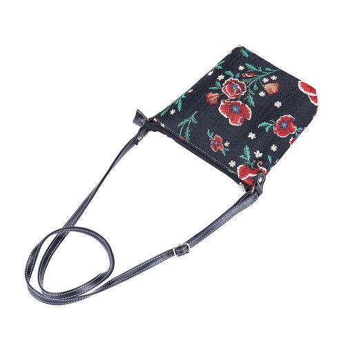 Signare Tapestry Frida Kahlo Collection Poppy Sling Bag in Black