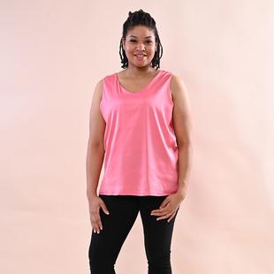 JOVIE Solid Colour Satin Vest - Pink