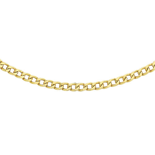 Hatton Garden Close Out 9K Yellow Gold Curb Necklace(Size 20)