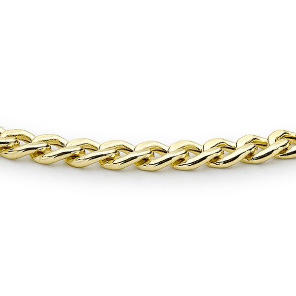 9K Yellow Gold Curb Bracelet (Size 7.25)