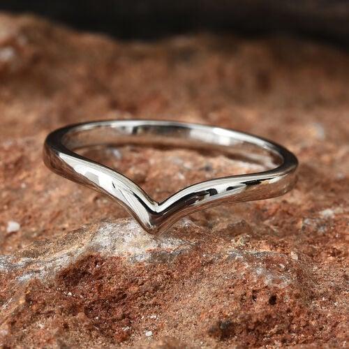 Super Auction-RHAPSODY 950 Platinum Wishbone Ring, Platinum wt. 2.79 Gms.