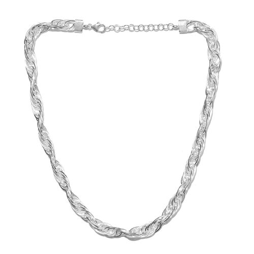 Sterling Silver Prince of Wales Necklace (Size 18 with 2 inch Extender), Silver wt. 48.55 Gms