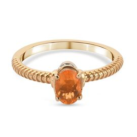 GP Art Deco Collection - Fire Opal, Natural Cambodian Zircon and Kanchanaburi Blue Sapphire Ring in