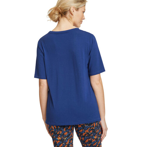 Thought Bamboo Base Layer Tee (Size 10) - Sapphire Blue
